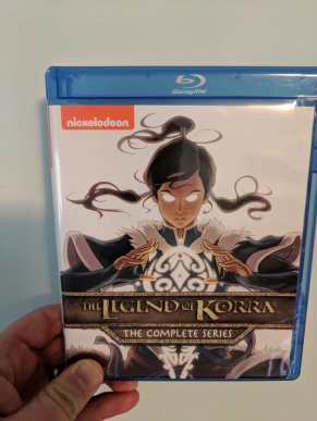 Bluray disc copy of The Legend of Korra The Complete Series. The series is very spiritual and scenes would play in my mind over and over during this experience.